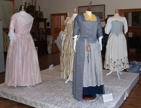 Photo of exhibit of 18th century clothing