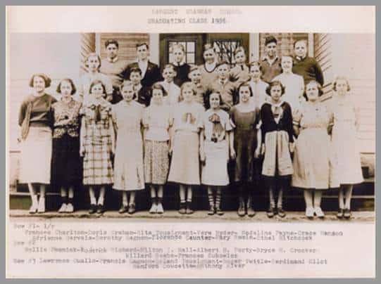 Photo of Sargents Grammar School - Graduating Class - 1936