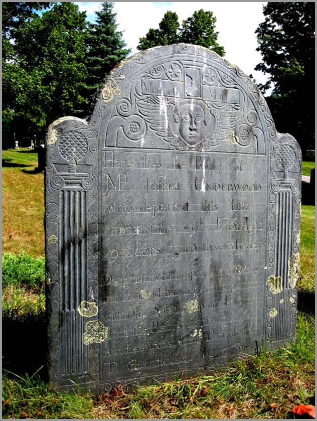 Joseph Underwood headstone photo