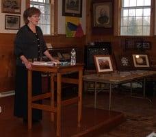 Photo of Mary McAvoy reading