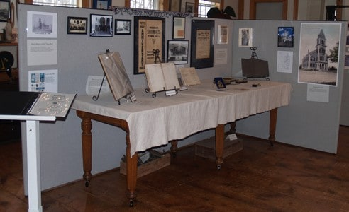 Photo of Town Hall exhibit