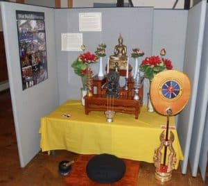 Photo of the Buddhist Worship Space exhibit