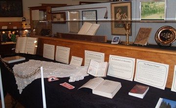 Photo of the Worship Spaces exhibit table
