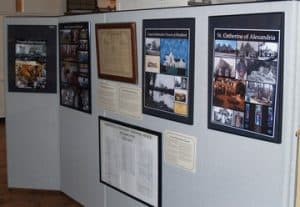 Photo of exhibit wall from Worship Spaces