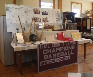 Photo of Baseball exhibit table