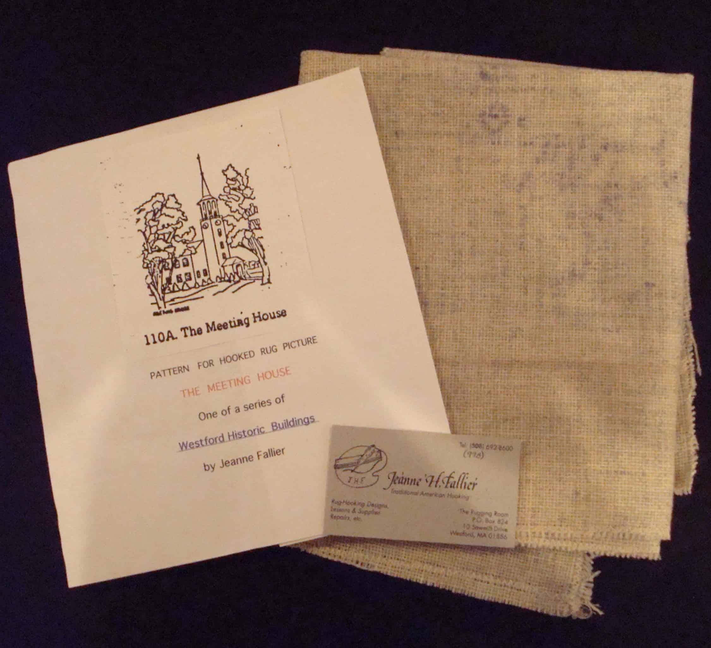 Rug Hooking Patterns Of Westford The Westford Historical